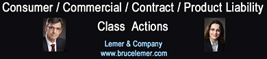Photo of Bruce Lemer,, lawyer with 25+ years experience in class actions click to website www.brucelemer.com0
