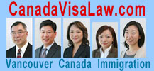 2 lawyers and 3 certified immigration consultants with Lowe & Company in Vancouver, BC - CLICK TO CanadaVisaLaw.com