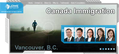 Lowe & Co. CLICK TO  CanadaVisaLaw.com  - photos of  immgration lawyers Jeffrey Lowe, Robert Y. C. Leong and Leticia Siu