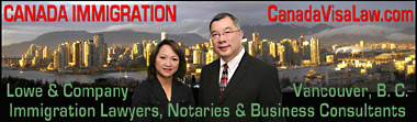 Lowe & Co. Immigration lawyers from Vancouver, and Notary Vivien Lee, originally fr. Singapore who is also a Certified Canada Immigration Consultant with Rita Cheng, fr. Hong Kong, China) and  Immigration support staff from Japan et al, in team