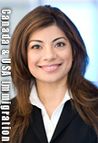 Saba Naqvi, BA JD practices both Canada and USA Immigration Law, licensed as an Attorney at Law in California as well as called to the Bar in B.C. - has main office s in downtown Vancouver with the Boughton Law  Crop. Cross Border Law Group