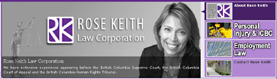 Rose Keith, experienced traumatic brain & spinal injuries,  personal injury & ICBC accident claims lawyer in fowntown Vancouver