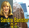 Sandra Banister, QC (Queens Counsel) 30+ years expereince as a Personlal  Injury, ICBC claims disputes lawyer and employment  law contracts lawyer, in downtown Vancouver's Marine Buildiing on Burrard St.