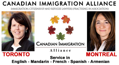 Nancy Elliot, Certified Specialist in Citizenship and Immigration Law (Ontario)  Toronto & Mary Keyork, Specialist in Citizenship and Immigration Law,  Montreal  practice in association as Canada Immigration Lawyers  with offices in Toronto and Montreal, HQ 5000 Yonge St. Toronto