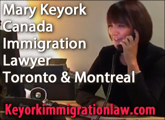 Mary Keyork, LLM,  click to VisaMadeEasy.ca  web site for Mary Keyork, Toronto and Montreal immigration lawyer experienced with citizenship, immigration, appeals, reviews of applications, and refugee work with  Montreal & Toronto offices   lawyer fluent in French, English, Armenian and Spanish-- CLICK TO WEBSITE WWW.KeyorkImmigrationLaw.COM